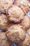 Queques cozidos Home-made com porcas, frutas cristalizadas Imagens de Stock Royalty Free