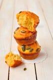 Queques da abóbora e do queijo Fotos de Stock Royalty Free