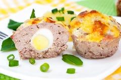 Queques da carne Fotografia de Stock