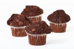 Queques da microplaqueta de chocolate Fotografia de Stock