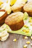 Queques de milho com bananas imagem de stock royalty free