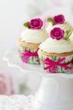 Queques de Rosa Imagens de Stock Royalty Free