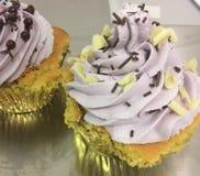 Queques de Violet Vanilla Foto de Stock Royalty Free