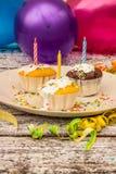 Queques deliciosos Fotografia de Stock Royalty Free