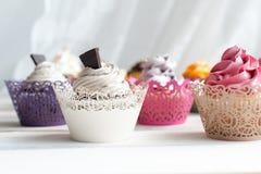 Queques deliciosos coloridos Fotografia de Stock