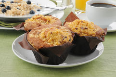 Queques do bolo de café com oatmeal foto de stock royalty free