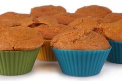 Queques do bolo de cenoura Fotografia de Stock