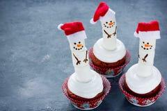 Queques do boneco de neve Foto de Stock