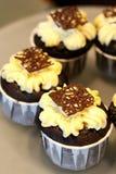 Queques do chocolate Fotos de Stock