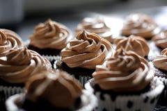 Queques do chocolate Imagens de Stock