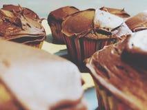 Queques do chocolate Fotografia de Stock Royalty Free