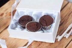 Queques do chocolate Foto de Stock