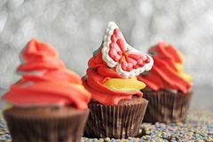 Queques do chocolate de Easter Foto de Stock Royalty Free