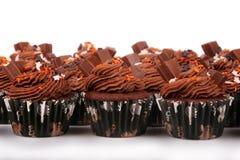 Queques do chocolate do feriado imagens de stock royalty free