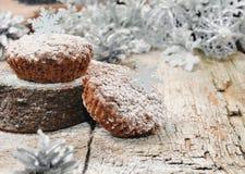 Queques do chocolate para o Natal Imagem de Stock Royalty Free