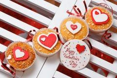 Queques do dia de Valentim Fotografia de Stock Royalty Free