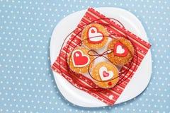 Queques do dia de Valentim Foto de Stock