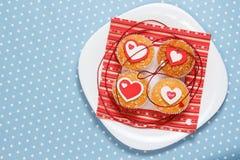 Queques do dia de Valentim Foto de Stock Royalty Free