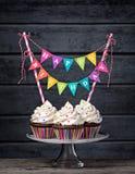Queques do feliz aniversario Foto de Stock