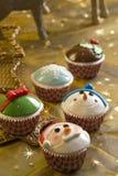 Queques do Natal Imagens de Stock Royalty Free