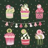 Queques do Natal ilustração royalty free