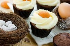 Queques do ovo da páscoa Fotografia de Stock Royalty Free
