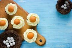 Queques do ovo frito Imagem de Stock Royalty Free