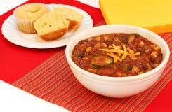 Queques do pimentão e do milho do vegetariano Imagem de Stock