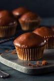 Queques escuros caseiros do chocolate Fotos de Stock Royalty Free