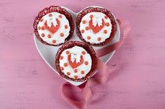 Queques felizes do dia de Valentim Imagem de Stock Royalty Free