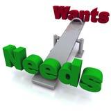 Quer contra necessidades Foto de Stock Royalty Free