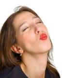 Quer ser beijado Imagens de Stock Royalty Free