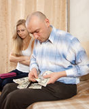 Querelle de famille au-dessus d'argent Photographie stock libre de droits