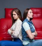Querelle de femmes, deux amies de dispute Image libre de droits