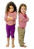 querelle deux de filles Photo stock