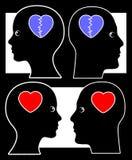 Querelle et réconciliation Image libre de droits