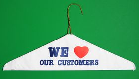Queremos a nuestros clientes Fotos de archivo