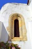 Querenca 16世纪主教堂窗口 库存照片