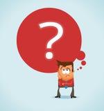 Querer saber e incerteza Fotografia de Stock