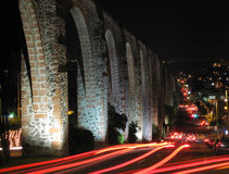 Queretaro Aqueduct. The Los Arcos (aqueduct) in Queretaro, Mexico, Constructed between 1726 and 1735 royalty free stock photography
