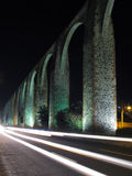 Queretaro Aqueduct. The Los Arcos (aqueduct) in Queretaro, Mexico. Constructed between 1726 and 1735 stock photography