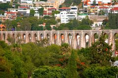 Queretaro aqueduct II. Aqueduct of the queretaro city, mexico stock photos
