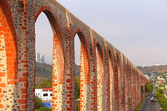 Queretaro aqueduct III. Aqueduct of the queretaro city, mexico stock photos