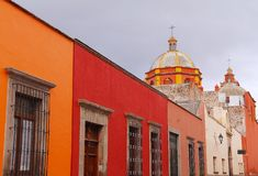 Queretaro architecture VII. Architecture of the city of queretaro, mexican state of queretaro royalty free stock image