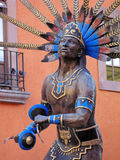 Queretaro Dancing Indian. Statue of dancing indian in the colonial city of Queretaro, Mexico royalty free stock photo