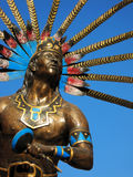 Queretaro Dancing Indian Statue Royalty Free Stock Photos