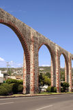 Queretaro Los Arcos. The Los Arcos (aqueduct) in Queretaro, Mexico. Constructed between 1726 and 1735 stock image