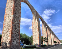Queretaro Mexico. Image of the famous old Aqueduct of Queretaro, Mexico stock images