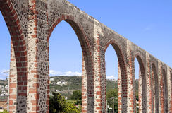 Queretaro's Los Arcos. The Los Arcos (aqueduct) in Queretaro, Mexico. Constructed between 1726 and 1735 stock photo