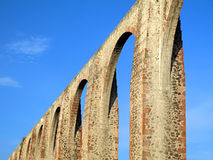Queretaro's Los Arcos Aqueduct Royalty Free Stock Photography